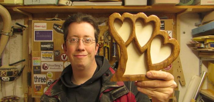 oak-heart picture frame